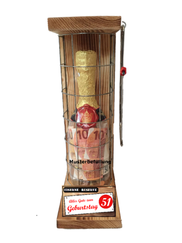 Alles Gute zum 51 Geburtstag - Eiserne Rerserve – Geldgeschenk - Sektflasche zum selbst Befüllen