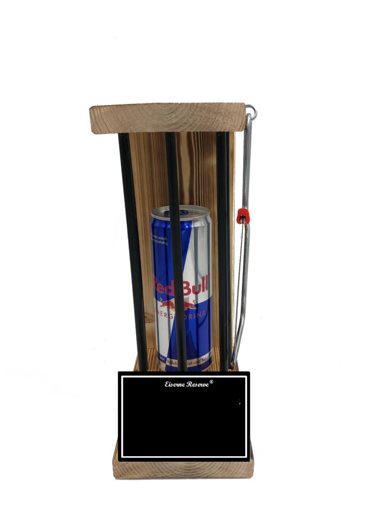 Personalisierbar Black Edition Eiserne Reserve ® mit einer Dose Red Bull 0,473L