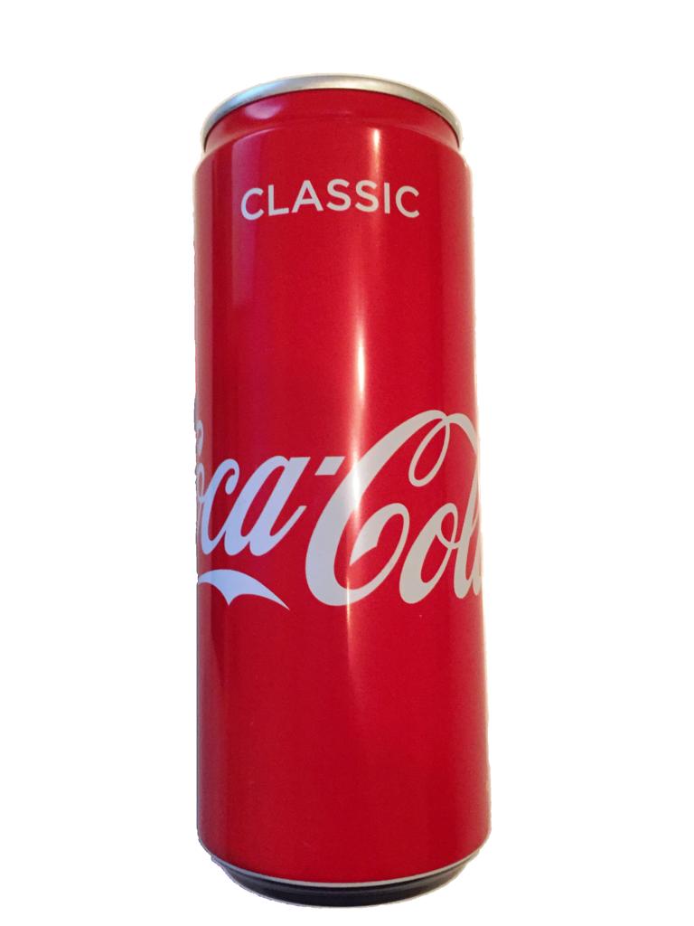 Personalisierbar Black Edition Eiserne Reserve ® mit einer Dose Coca Cola 0,33L