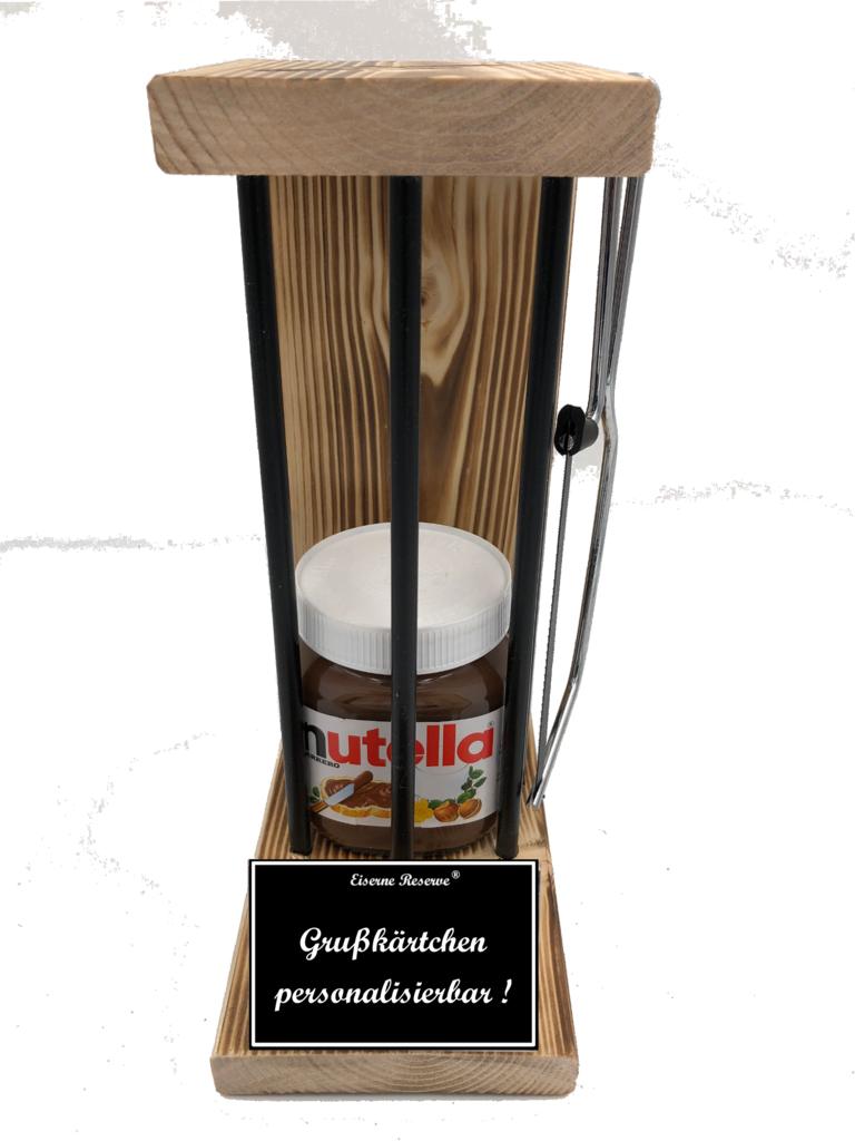 Personalisierbar Black Edition Eiserne Reserve ® mit Nutella 450g Glas