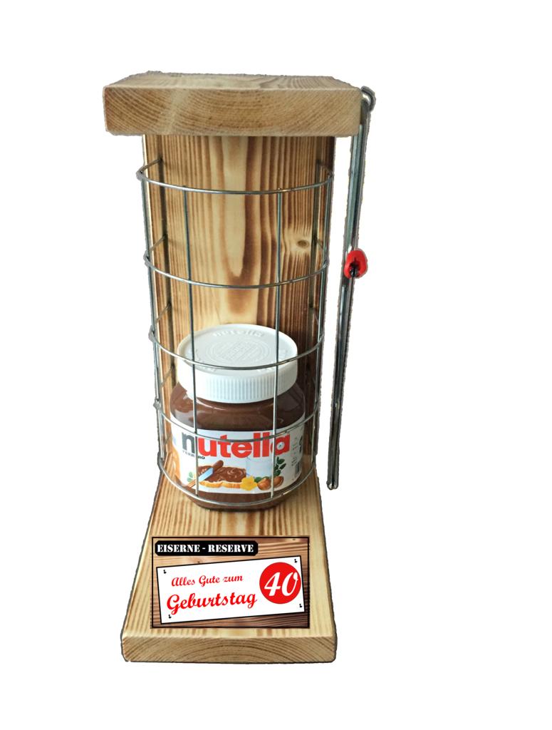 Alles Gute zum 40 Geburtstag Die Eiserne Reserve Befüllung mit Nutella