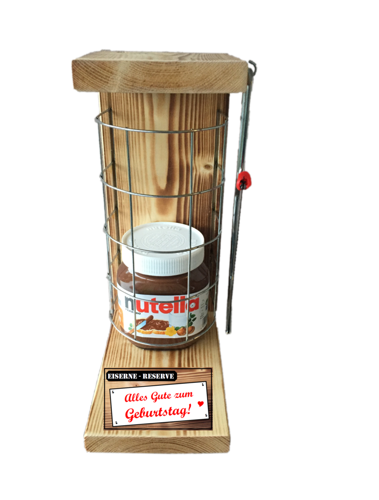 Alles Gute zum Geburtstag Die Eiserne Reserve Befüllung mit Nutella